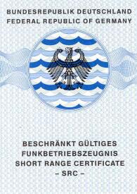 SRC Segelschule Karlsruhe Seefunk Short Range Certificate