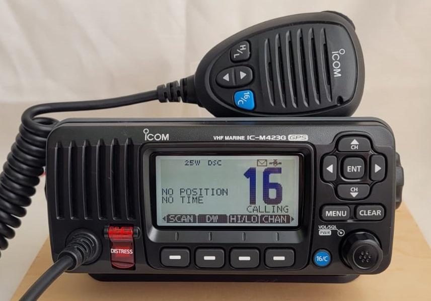 Funkkurs SRC: Funkgerät IC-M423G im DSC Betrieb für GMDSS